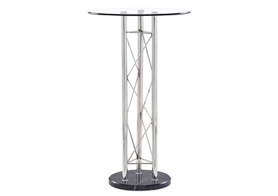 Clear/Black Round Bar Table
