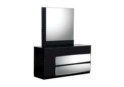 Manhattan Black Dresser and Mirror