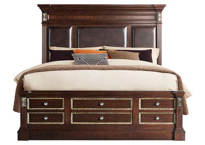 Image for Marseille Brown Queen  Bed Without Tower