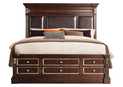 Image for Marseille Brown Queen  Bed With Tower