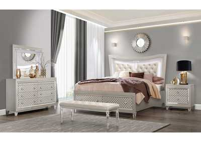 Paris Champagne King Storage Bed w/Dresser and Mirror