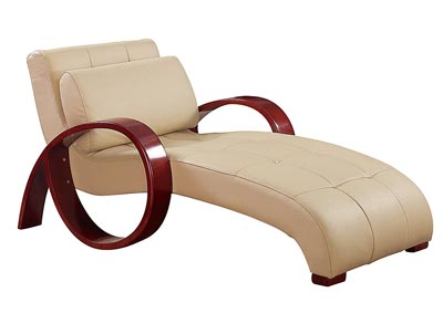 Cappuccino Leather Chaise