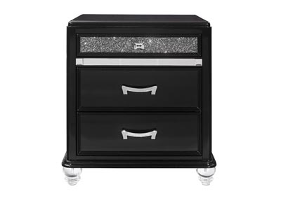 Image for Sonia Metallic Black  Nightstanad W/Acrylic Legs