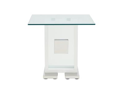 White White End Table
