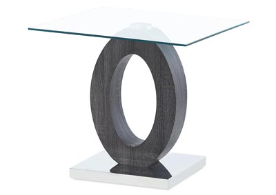 Grey Paper End Table