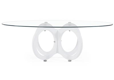Clear/High Gloss White Coffee Table
