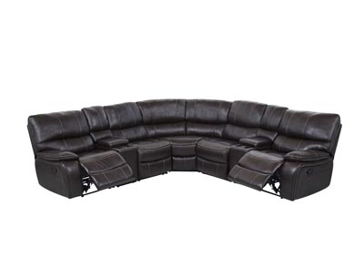 Agnes Espresso/Agnes Black 7Pcs Sectional