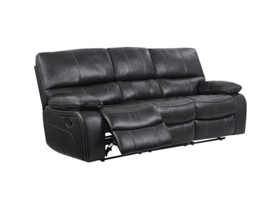 Grey/Black Reclining Sofa