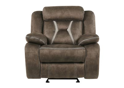Sultry Dark Brown/Pecan Glider Recliner