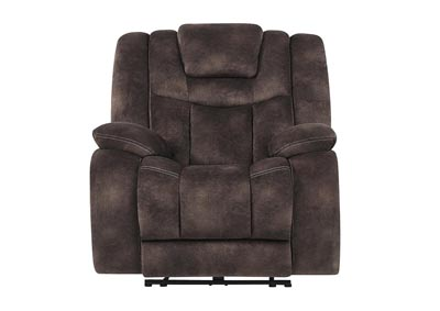 Night Range Chocolate Power Recliner w/Headrest & USB