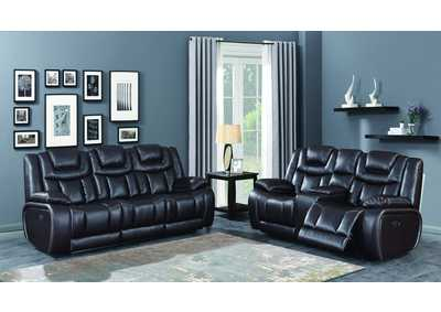 Image for U1706 Agness Espresso Power Reclining Loveseat W/ Drop Down Table, Power Headrest, & Usb