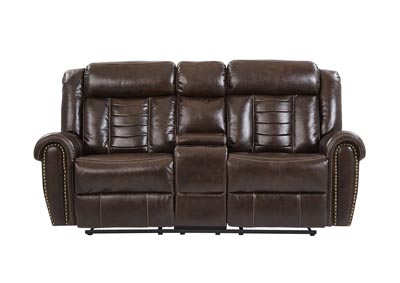Chocolate Reclining Sofa