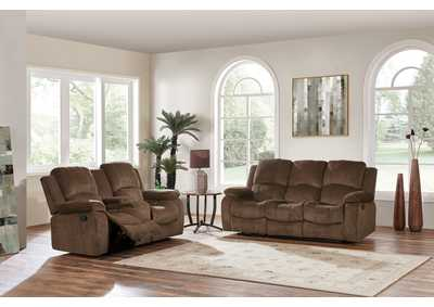 Subaru Coffee Reclining Sofa and Loveseat