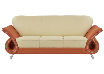 Beige/Orange Sofa