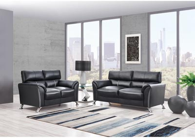 Image for Black/Dark Grey Sofa & Loveseat