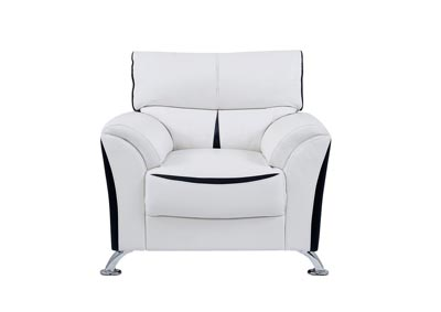 White/Black Chair
