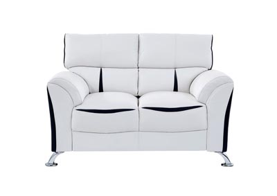 White/Black Loveseat