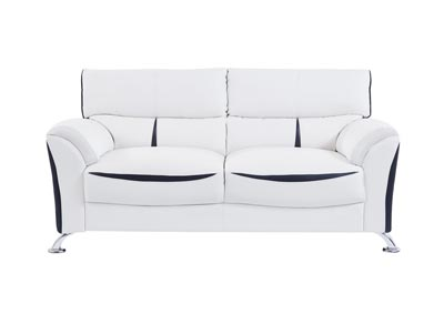 White/Black Sofa