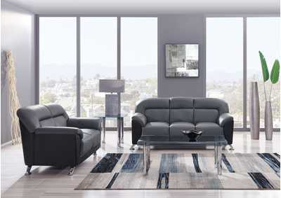 Image for Dark Grey/Black Sofa & Loveseat