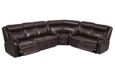 Image for U9303 Brown 3 Piece Sectional
