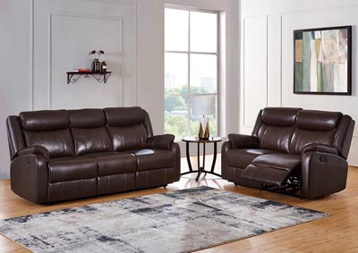 Image for Brown Reclining Sofa & Loveseat