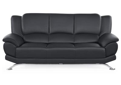 Black Sofa w/Chrome Legs