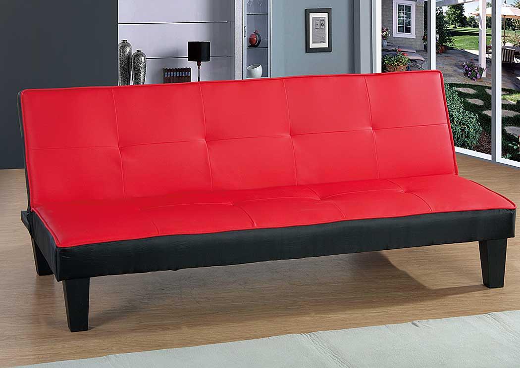 Sweet Dreams Bedding Furniture Red Black Sofa Bed