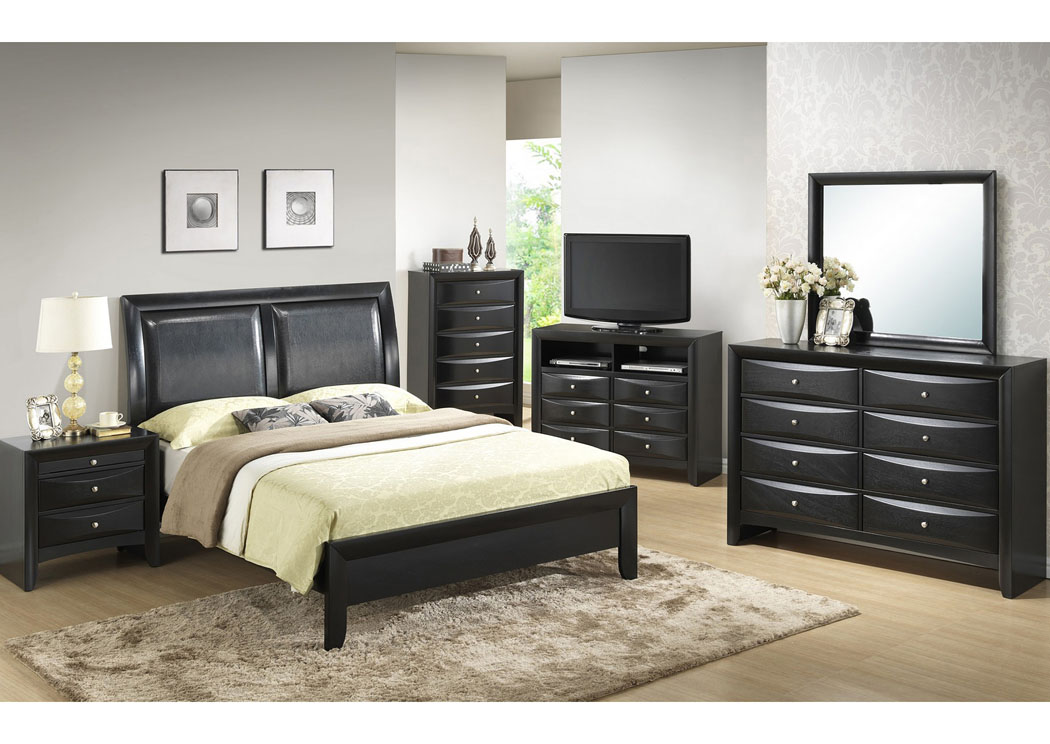 Black Dresser w/Mirror,Glory Furniture