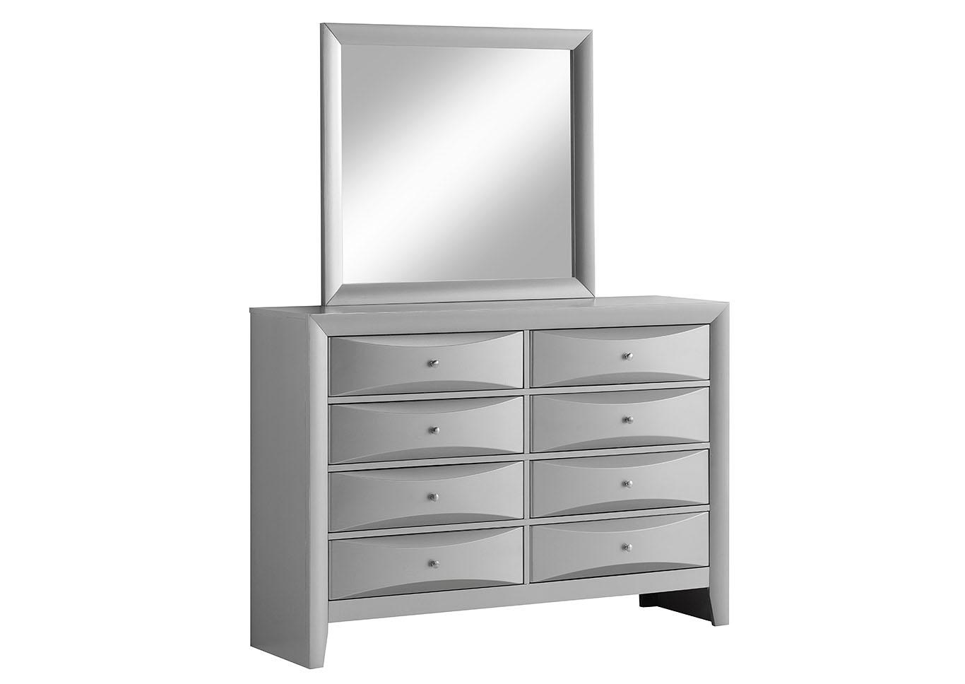 Royal Furniture - Brooklyn, NY Gray Framed Rectangular Mirror