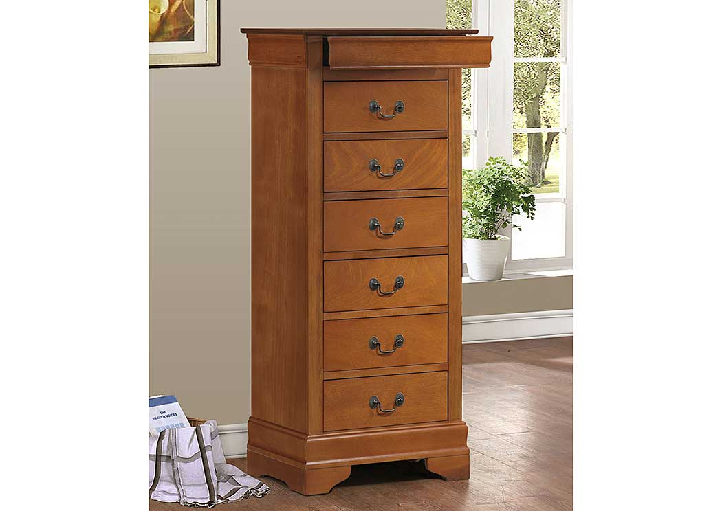Oak Lingerie Chest,Glory Furniture