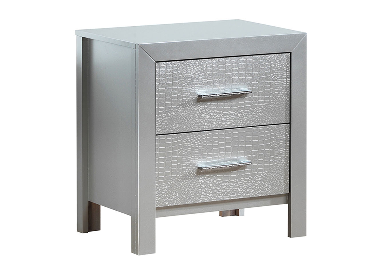 Home Furnishings Depot Ny Silver Champagne Nightstand