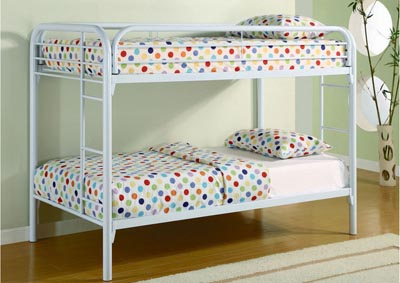 White Twin/Twin Bunkbed