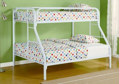 White Twin/Full Bunkbed