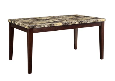 Brown Faux Marble Table