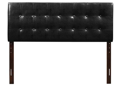 Black Upholstered King Headboard