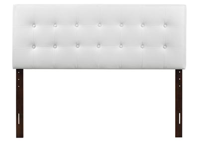 White Upholstered King Headboard