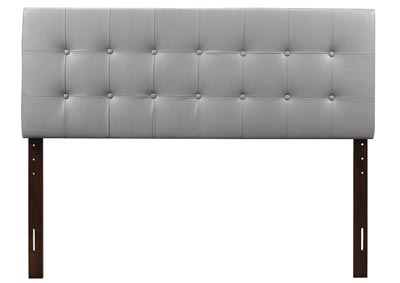 Light Gray Upholstered King Headboard