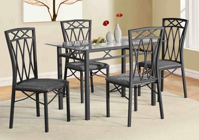 Gunmetal Grey Table and 4 Chairs