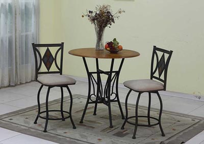 Image for Oak Table w/ 2 Stools