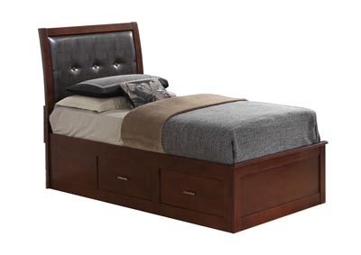 Cherry Twin Storage Bed