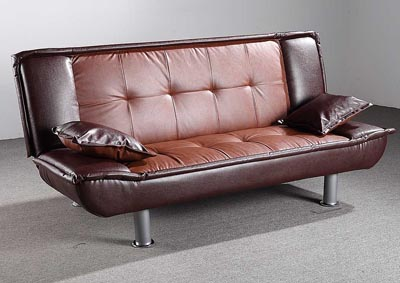 Brown 2 Tone Sofa Bed