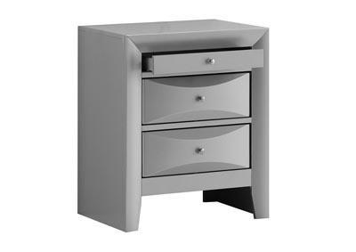Image for Gray 3 Drawer Nightstand