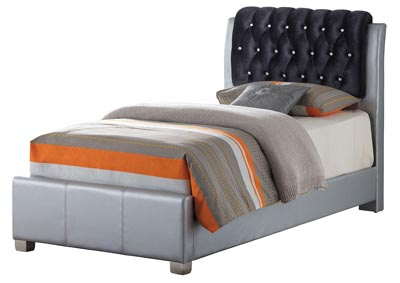 Image for Gray 2 Drawer Storage Twin Bed
