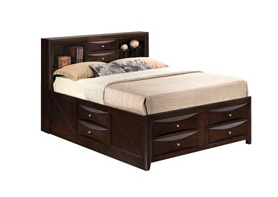Image for Cappuccino King Storage Bookcase Bed