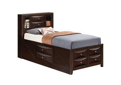 Image for Cappuccino Full Storage Bookcase Bed