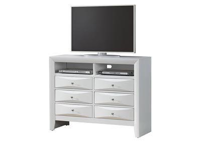 White TV Chest
