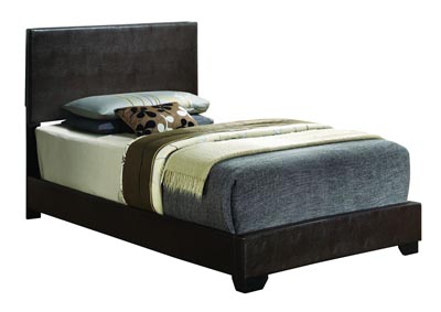 Cappuccino Twin Upholstered Bed