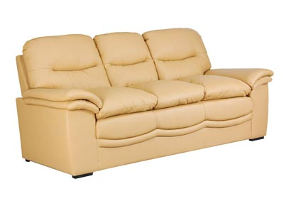 Khaki Bonded Leather Sofa