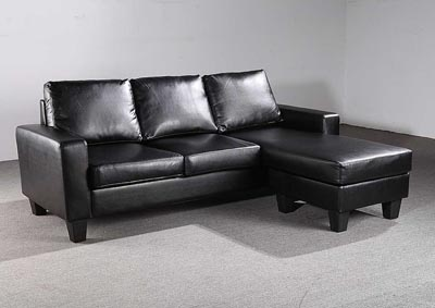 Black Sofa Chaise