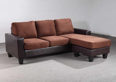 Chocolate & Brown Sofa Chaise